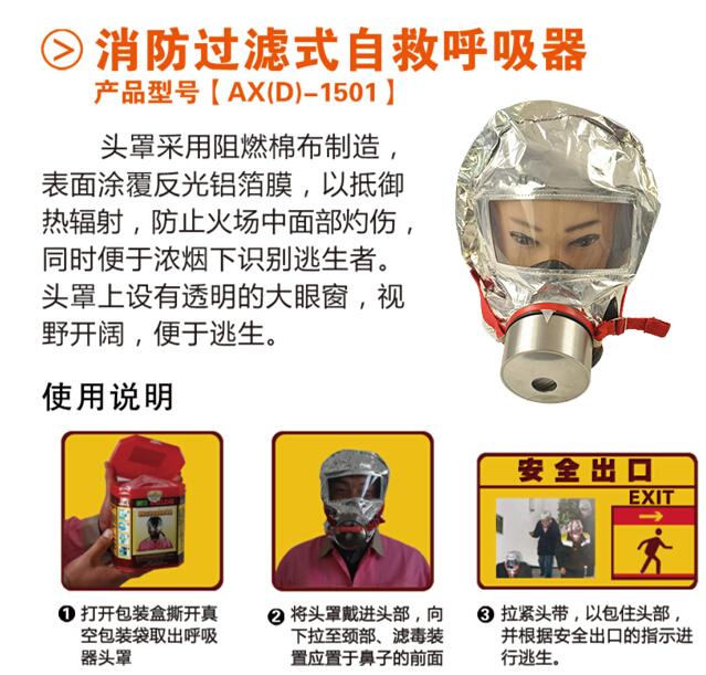 消防面具使用方法图解